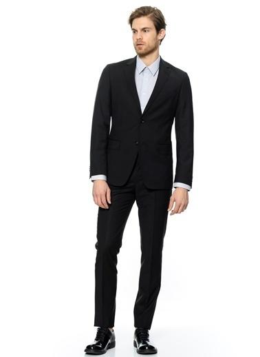 George Hogg George Hogg Ceket Yaka Uzun Kol Erkek Takım Elbise Siyah